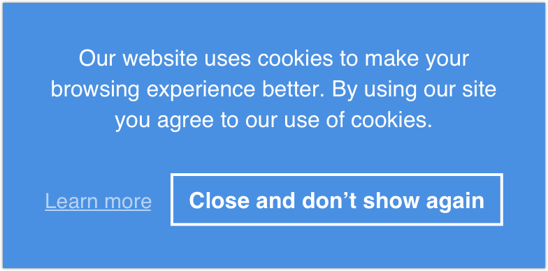 Informational Cookie Consent